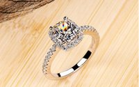 Wholesale Vintage Rings Three Stone Rings New High end fashion Princess Ring Rectangular ring jewelry silver Filling Jewelry Zircon