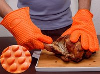 bbq grill gloves - Heat Resistant Kitchen glove Thick barbecue grilling glove Silicon BBQ Grill Glove Oven Mitt Pot Holder Cooking glove Kitchen Accessories