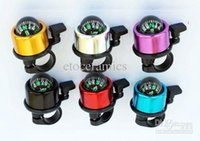 Wholesale Bike Cycling Bicycle Ring Bell with Compass Ball Red Black Blue Silver