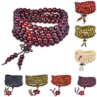 Cheap Wholesale Beaded Wood Bead with Chinese Knots Wrap Bracelets for Men and Women Jewelry 10pcs Lot