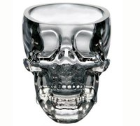 Wholesale Vodka glasses quot crystal skull quot Shot Glass cup wineglass whsiky glasses