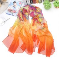 amazon gift wrap - Special Price Hot On Amazon Partysu Scarf For Women Lady Elegant Floral Imitated Silk Wrap All Match Best Gift