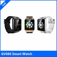 android play music - Luxury smart watch phone GV08S quot OGS MP camear android watch CE FCC ROHS anti lost smartwatch music play bluetooth watch