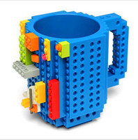 Wholesale Drinkware Building Blocks Mugs DIY Block Puzzle Mug oz Piece Build On Brick creative Mug Lego Type Coffee Cup HIGHT QUALITY