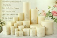 bath arts - Classic Six Sizes Cylinder Wedding Party Gift High Quality Wedding Candles For Romantic Bath Soap Valentine s Gift Candle Favors