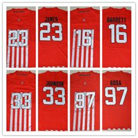 archie manning - New Red Ohio State Buckeyes Jerseys College J T JT Barrett Lebron James Pete Johnson Archie Griffin Joey Bosa Football