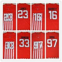 archie football - New Red Ohio State Buckeyes Jerseys College J T JT Barrett Lebron James Pete Johnson Archie Griffin Joey Bosa Football