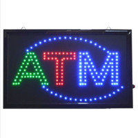 atm neon sign - 20PCS price new arrival size quot quot quot Animated LED ATM LED Neon Sign Bright Restaurant Shop Store led ATM sign