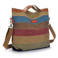 Wholesale 2015 new stripe vintage Women shoulder pouch messenger bag women canvas handbag women s handbags patchwork women bag AWM60