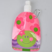 bag waterers - 360ml Cute Cartoon Pattern Pets Fordable Water Bag Best Quality Plastic Dogs Cats Portable Drink Water Bag Pet Dog Cat Drink Water Bowl