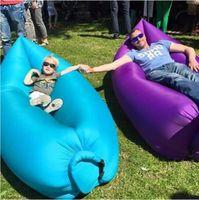 Cheap 2016 Fast Inflatable Camping Sofa banana Sleeping Lazy Chair Bag Nylon Hangout Air Beach Bed chair Couch