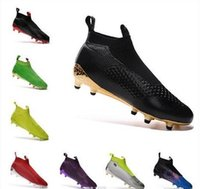Wholesale ACE PureControl slip on Mens sock football boots soccer shoes FOOTBALL Cleats SHOES FG size