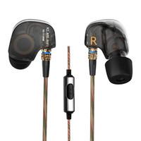 Wholesale 2016 New Original KZ ATE Headphones mm in ear Earphones HIFI Metal Stereo Earphones and Headphones Super Bass noise isolating