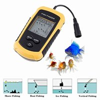 Wholesale Electronic Fish Tackle Fish Finder Sonar Wired LED Fish Detector Depth Finder Alarm M AP Fishing Detector for Outdoor Sporting