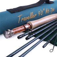 Wholesale New Traveller Fly Fishing Rod FT WT With Cordura Tube Traveller Fly Rod