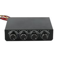 Con la caja al por menor STW STW-600 3.5 PC de la PC de la pulgada PC HDD CPU Ventilador de la velocidad del ventilador del canal 4 Ventilador de la velocidad del LED Control de 3PIN 4PIN Refrigeración Panel delantero