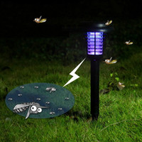 anti mosquito lamp - UV LED Solar Powered Outdoor Yard Garden Lawn Light Anti Mosquito Insect Pest Bug Zapper Killer Trapping Lantern Lamp