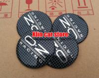 Cheap 20pcs 56.5mm Black lattice OZ Racing logo Car Wheel Hub Cap Auto Badge Emblem Decal Sticker styling