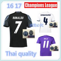 Wholesale Top Quality Real madrid home away RD Jerseys RONALDO JAMES BALE MODRIC Champions League Jerseys