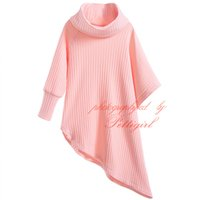 baby long sleeve undershirts - Pettigirl Spring And Autumn Girls Cotton Long Sweater Full Sleeves Turtleneck Asymmetric Jumper Baby Pullover Undershirt G DMGT906