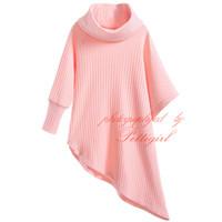 baby cotton undershirts - Pettigirl Spring And Autumn Girls Cotton Long Sweater Full Sleeves Turtleneck Asymmetric Jumper Baby Pullover Undershirt G DMGT906