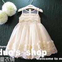 Wholesale Ruffle Tulle Dress Child Lace Dresses Girl Dress Spring Summer Dresses Princess Dresses Children Clothes Kids Clothing Lovekiss C24983