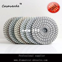 Wholesale mm wet inch wet diamond polishing pads white Resin polisher for stone and granite