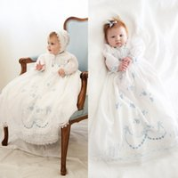 baby christening gown pattern - Delicate Embroidery Patterns Christening Dresses For Baby Clothes Jewel Birds Flowers Girls Clothing First Communion Baptism Gowns