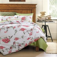 Wholesale Home textile Classic American country style luxury Egyptian cotton Bedding sets Flower and bird king twin queen size bed sheet