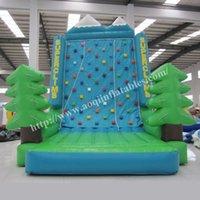 kids indoor play equipment - AOQI rock climb equipment inflatable climbing wall mini indoor inflatable sport game rock climbing wall for kid made in guangzhou