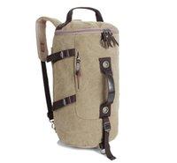 Wholesale New Arrival Casual Canvas Barrel Backpack Vintage Shoulder Bag laptop Bag Climbing Travel messenger bag Daypack Backpacks Handbag