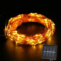 Wholesale Solar Powered Copper Wire String Light M Starry String Lights Outdoor Waterproof Ambiance Lighting for Outdoor Holiday Party Decoration