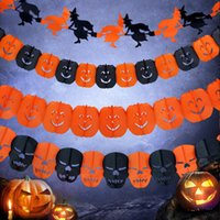 bar tricks free - 3M Hot New Halloween Decoration HAPPY HALLOWEEN TRICK OR TREAT Halloween Party Bar Banners Flag Garland Home Decoration Wall Decor Free DHL
