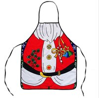 Wholesale 2016 New Hot Selling Christmas Man Aprons Red Color Kitchen Accessories Christmas Decorations Opp Bag Packing