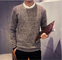 bamboo hedges - men s sweater New autumn and winter hedging sweater fashion men s warm winter sweater tide AA