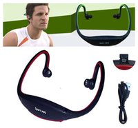 Cheap Wholesale new wireless card headset headset ear fashion sport tourism portable wireless TF card supported MP3 headset with FM radio