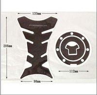 Wholesale Suitable for Motorcycle gas tank cap pad carbon fiber Kawasaki Ninja ZX ZRX ZZR A02 cap naruto