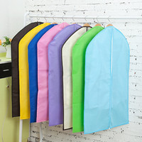 Wholesale 110 cm Multicolor Non Woven Cloth Suits Storage Bag Home Dress Clothes Garment Suit Cover Case Dustproof Storage Bags Protector