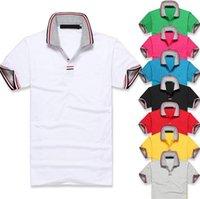 army logo shirts - 2016 Summer Custom made Popular men polo shirts fashion famous Logo tags turn down collar tees polos modal men s Tops tees