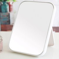 Wholesale High clear one sided desktop makeup decor home mirror beauty vanity mirror Princess mirror folded side room x15cm