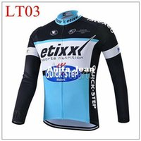 Wholesale 2015 quickstep Cycling Jersey Tops Blue Long Sleeve autumn Men Road Bicycle Wear XS XL High Quality Close Fitting tops