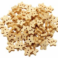Cheap Brand New 100pcs 13mm Wooden Star Shape Buttons Natural Craft Scrapbook Sewing Cardmaking 2 Holes Home Crafts Scrapbooking Tools