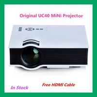 av homes sale - Hot Sale UC40 Portable LED Projector Home Theater Multimedia Video Projector PC USB SD AV HDMI With Free HDMI Cable