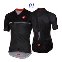 Wholesale 2016 Castélli ENTRATA Men Cycling Tops Jersey Black White Red Men Short Sleeve Bicycle Clothing Shirt High Elastic Sports Wear Compresse
