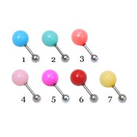 Wholesale 7 Colors Candy Colored Ball Cartilage Earrings Labret Lip Piercing Body Jewelry Fashion Accessories For Women Summer Style