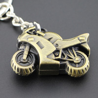 antique race car - 3D metal motorcycle racing car keychain Gentleman personality simulation model car key ring Retro key chain valentine day gift keychain2016