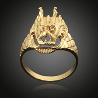 animal vacuum - Brand New K Yellow Gold Vacuum Plated Dragon Couple Wedding Rings For Women Men Real Gold Plated Men s Rings