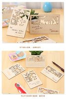 Wholesale Forest Nature s Story Wooden Retro Postcard Creative Hollow Aesthetic Memorial Greeting Card