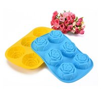 Wholesale Rose Flowers D Silicone Cookie Fondant Cake Mold D Cupcake Soap Biscuit Chocolate Mould DIY Cake Decoration Tool Bakeware