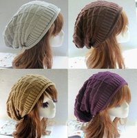 Cheap Beanie/Skull Cap Winter Knitted hat Best Plain Dyed Casual Triangular diamond shape grid hat